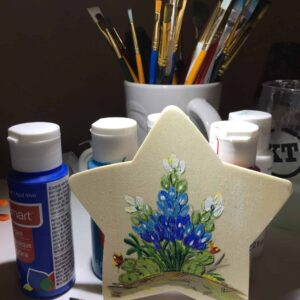 Image: Texas star with bluebonnets painting.