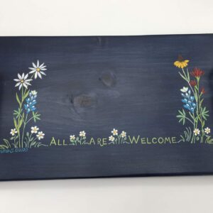 Image: Painted serving tray.